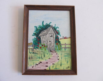Outhouse Painting, Outhouses, Outhouse, Cabin Decor, Cottage Decor, Paintings, Country Paintings, Outhouse Art, Ossian Paintings, Ossian