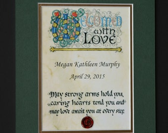 Personalized Irish Baby Blessing- Matted Print