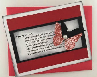Definition of Love Greeting Card | Valentine's Day Card | Love Definition Card