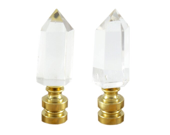 Crystal Point Lamp Finial Set