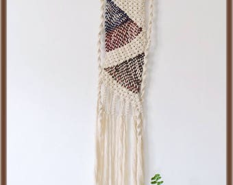 Weaving macramé wall hanging