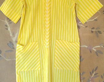 60s yellow striped shift dress by Skimma