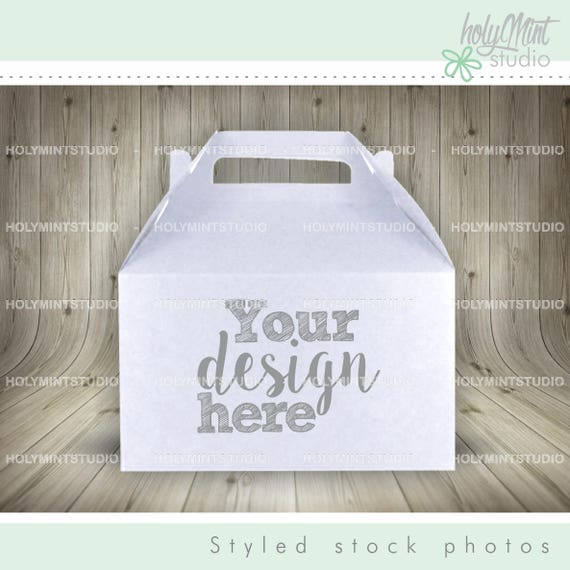 Gable Box Mockup Gable Box Bag Mockup Photo Stock Party
