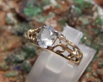Genuine Blue Topaz Sterling Ring