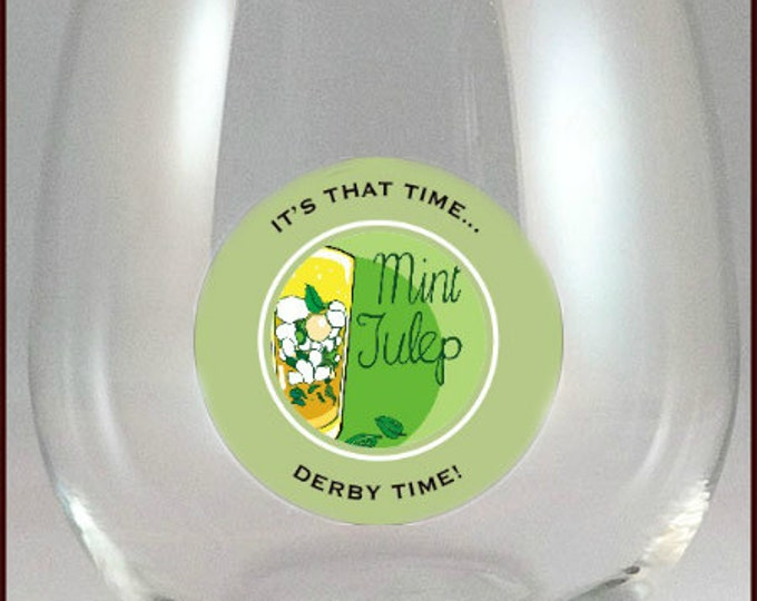 Kentucky Derby Glass Decals - Mint Julep Glass Decals, 10 Pack - Glass Not Included