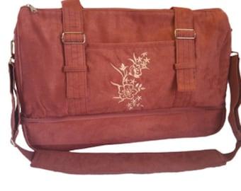 Oxygen tank purse with crossbody strap