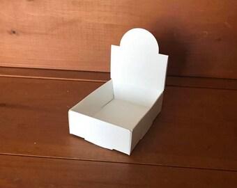 Lip Balm Tube affichage - 1 à 10 pièces - papier blanc naturel - plis en haut, robuste petite boîte pour contenir les baumes à lèvres et autres Tubes ou en pots
