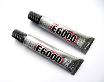 E6000 Adhesive Glue 5.3ml Tube Jewelry Supplies E6000AG5.3ML-1WBoDr-R