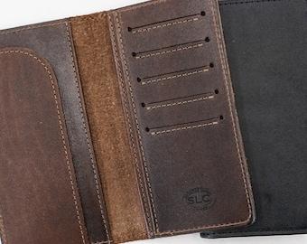 The Roper Wallet, Black, Brown, Leather Wallet, Card Holder, Long Wallet, Veg Tanned, Hermann Oak, #FPW-6