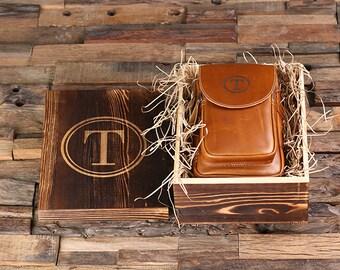 Set of 4 Personalized Leather Toiletry Bag, Dopp Kit, Leather Shaving Kit, Groomsmen, Father's Day Gift, Boy Friend Gift Travel Shaving Bag