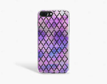 Purple iPhone 7 Case Clear iPhone 8 Case Clear iPhone 7 Plus Case Clear iPhone 6S Plus Case iPhone X Case Samsung Galaxy S8 Case
