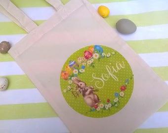 Personalized bag Easter egg hunt 26 x 18 cm