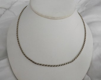 """Sterling Silver Vintage 24"""" Rope Chain Necklace"""