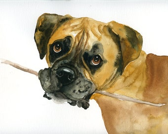 Custom dog portrait Custom pet portrait Custom pet painting Original painting Original watercolor painting 11x14inch