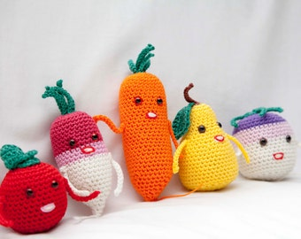 Set of Crochet Fruit and Vegetable