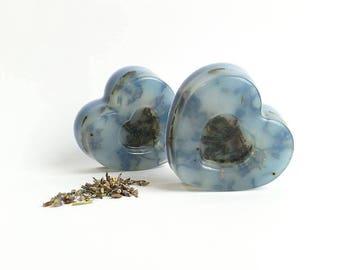 Lavender Heart Soap - Glycerin Soap - Handmade Lavender Soap - Aromatherapy Soap