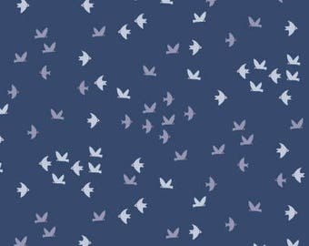 Flock of Birds on Moonlight from Dear Stella Design's Cold Comfort Collection