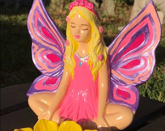 Hand Painted Ceramic - The Spring Flower Fairy