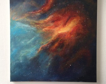 Interstellar clouds - acrylic painting on Canvas (50x50cm)