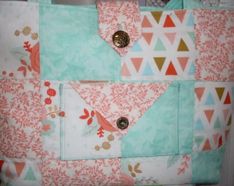 Quilted Tote / Quilted Purse / Cotton Purse