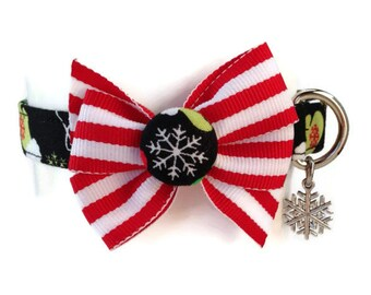 Christmas Mittens Holiday Dog Collar size Small