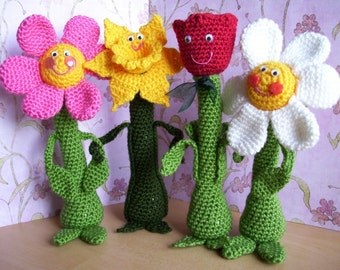 Friendly Flowers...PDF Crochet Pattern