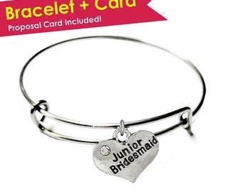 SALE: Junior Bridesmaid Bracelet- Junior Bridesmaid Proposal- Junior Bridesmaid Gift- Will You Be My Junior Bridesmaid Gift- Jr Bridesmaid