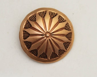"""4 1"""" Copper Hand Stamped Button"""