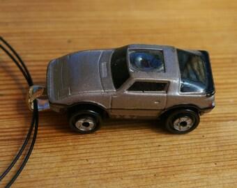 Silver Sports Car Micro Machine Car Pendant