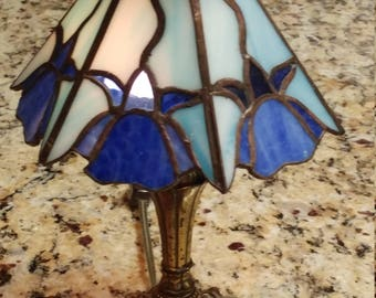 Small Stained Glass Floral motif Night-Light Lampshade