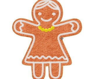 Embroidery design Gingerbread Woman Christmas Cookies