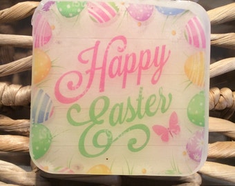 Happy Easter handmade soap, picture soap, Easter gift soap