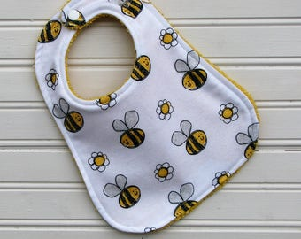 Bib - Bumble Bee Bib - Gender Neutral Bib - Baby Bib for Girl or Boy