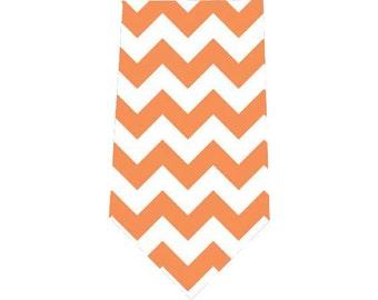 Boy's Tie Orange Chevron Child's Necktie