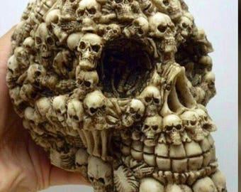 Human Skull, skull replica, Craft Supplies, Craft Blanks, Powertex Skulls, Mixed media, skulls, Plaster Face, Modelling Head, Skull, large