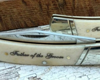 Father of the Bride, Father's Day Knife, Personalized Gift, Pocket Knife, Groomsmen Gift, Engraved Knife, Father's Day Gift, Folding Knife
