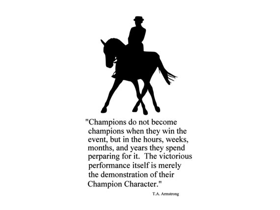 Horse Sports Quote Wall Decal Girls Room Decor College Dorm - Wall decals quotes for teenagers