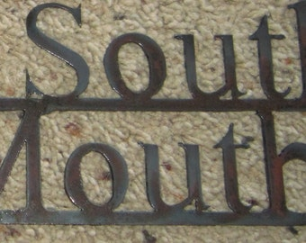Put Some South in Your Mouth-Metal Art Sign- Metal Wall ARt-Kitchen art-Southern Hospitality