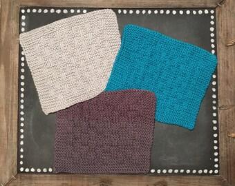 Hand Knit Cotton Washcloths
