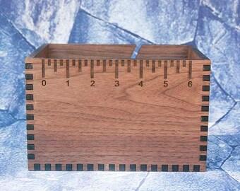 Walnut Loaded Yarn Box