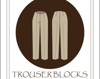 Women's Trouser Sloper/Block in Misses sizes 6-14 PDF sewing pattern