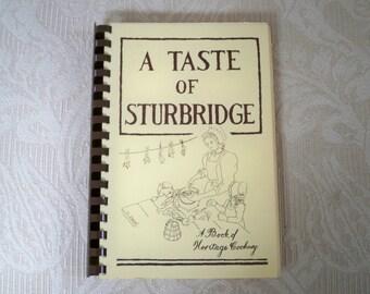 """Vintage Cookbook"""" A Taste of Sturbridge"""" 1980 Recipes"""