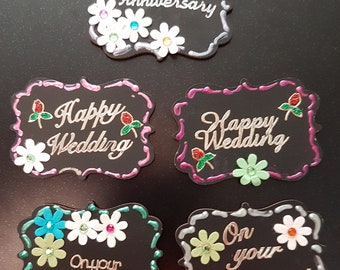 Fridge Buddies - Chalkboards - Quotes - Happy Anniversary,  Happy Wedding and On Your Engagement With Magnetic Strip