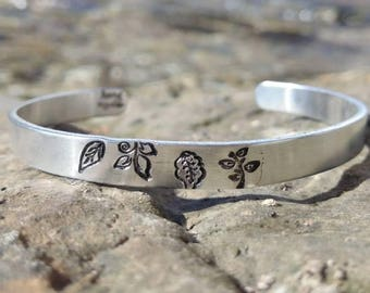 Recycled Aluminum Cuff - Leaves