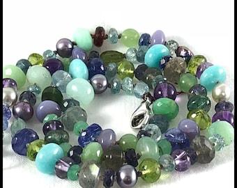Gemstones, Aqua, Amethyst, Amazonite, Labradorite, Pearl, Chrysoprase, Tanzanite, Peridot, Tourmaline