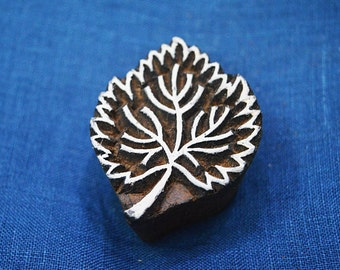 Leaf Stamp, Wooden Stamp - Hand Carved Indian Wood Block Textile Stamps - Fabric Stamp - Textile Printing Block-Stamp Blocks- Wooden stamps