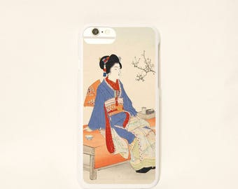 iPhone7/6scase 【kimono and plum】 /girl/iPhone7 case/kimono/iPhone6 case/caseiPhone7 /chair/case cover/flower/masterpiece  -free shipping-