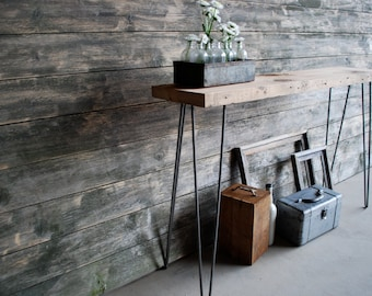 Mid Century Rustic Console Table, Reclaimed Wood Console Tables, Narrow Console Table, Sofa Table, End Tables 149.00