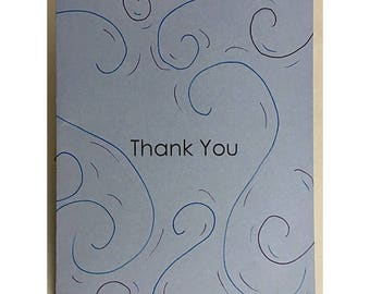 Hand-drawn Thank you card