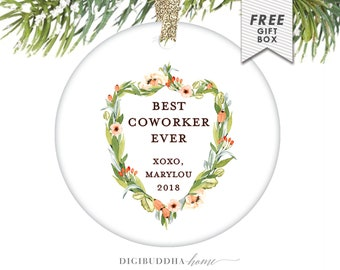 Gift for Coworker, Coworker Gift, Xmas Gift Ideas for Coworkers, Personalized Coworker Gifts, Gift for Coworker Leaving, Christmas Ornament